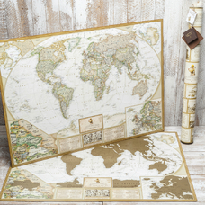 Scratch-Off World Map - My Antique Map