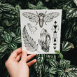 "Set of temporary tattoos ""Cicada"""