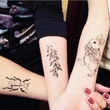 "Set of temporary tattoos ""Hare"""