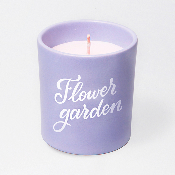"Candle ""A walk in the flower garden"""