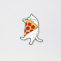 """Badge """"Cat with pizza"""""""