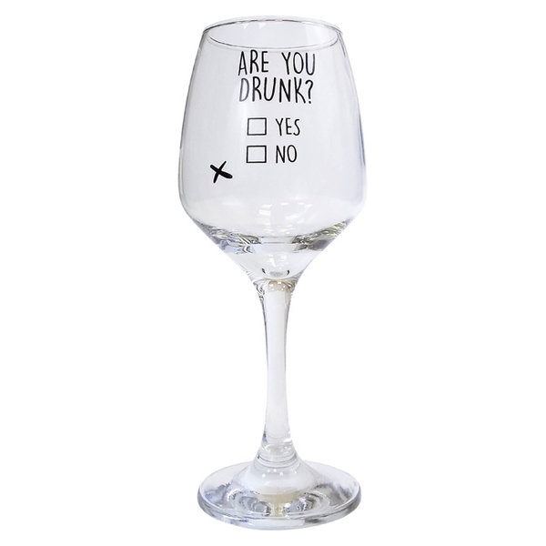 """Glass  """"Are you drunk"""""""