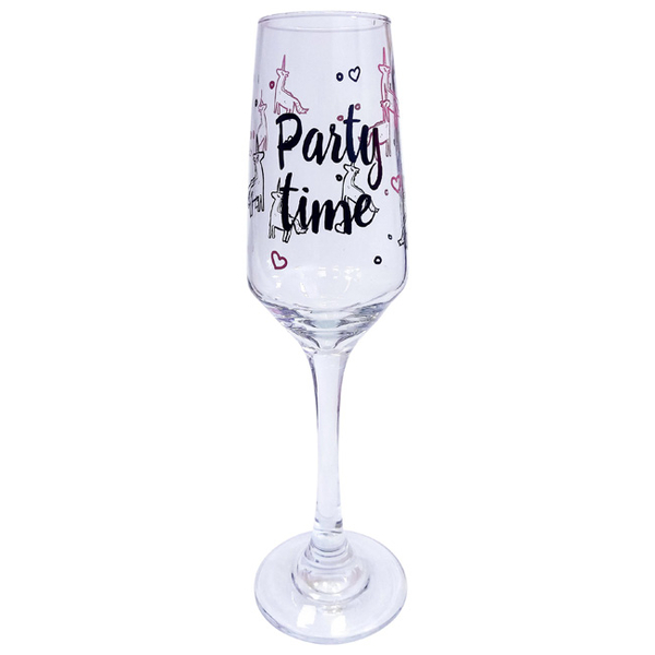 "Champagn Glass ""Party time"""