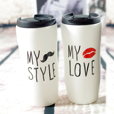 "Ceramic Tumbler ""My Love/My Style"""