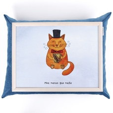 "Tray with a pillow ""Mr. Cat"""