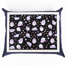 "Tray with a pillow ""Cosmic Cats"""