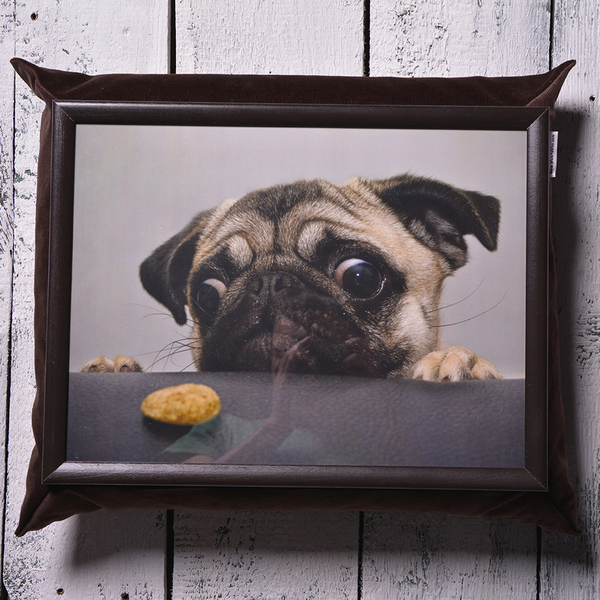 """Tray with a pillow """"Pug"""""""