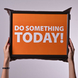 """Tray with a pillow """"Do something today"""""""