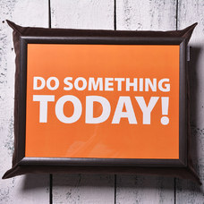 "Tray with a pillow ""Do something today"""
