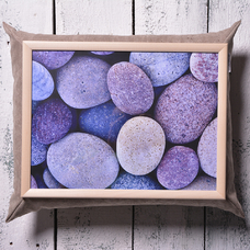 "Tray with a pillow ""Space stones"""