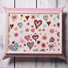 "Tray with pillow ""Hearts"""