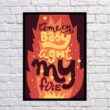 """Poster """"My fire"""""""