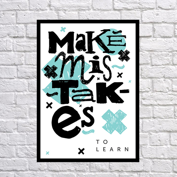 """Poster """"Mistakes"""""""