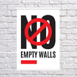 "Poster ""No empty walls"""