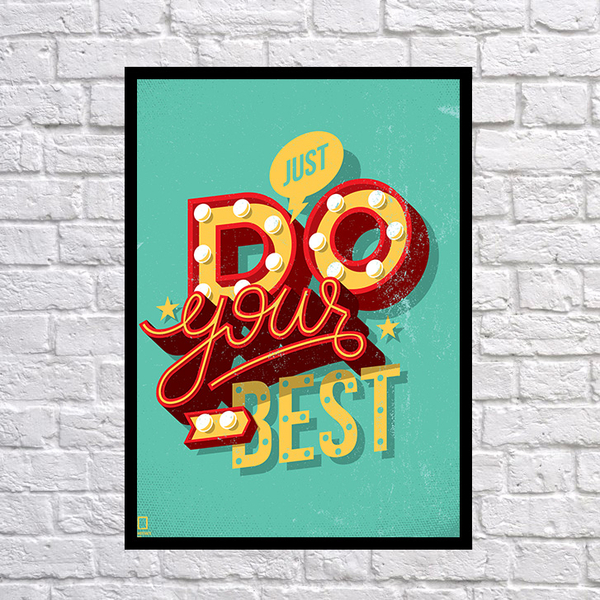 """Poster """"Do your best"""""""