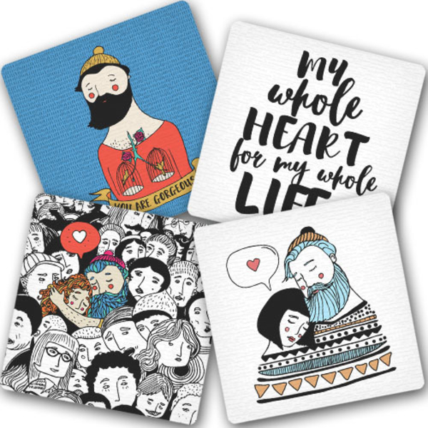 "Hot coasters ""Bearded and fallen in love"""