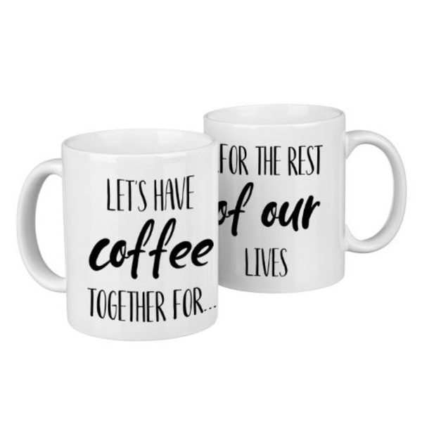 "Paired mugs ""Let's have coffee"""