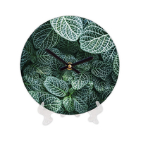 "Wooden clock ""Leaves"""