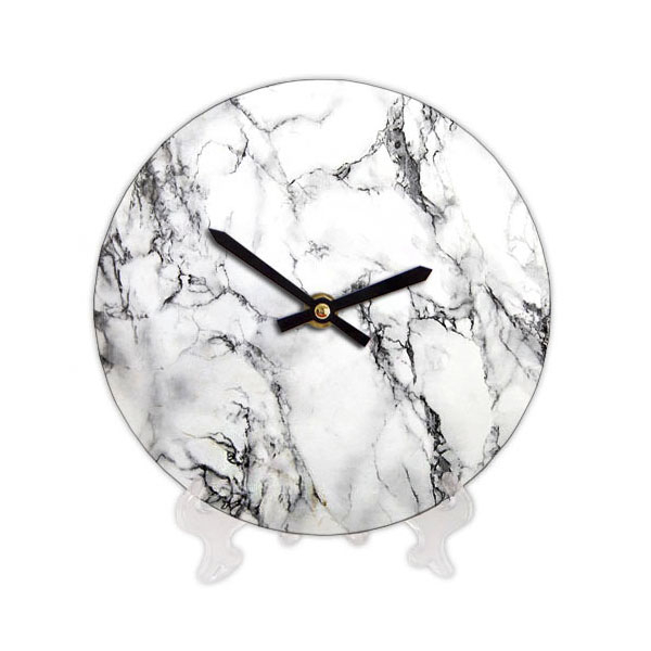 """Wooden clock """"White Marble"""""""