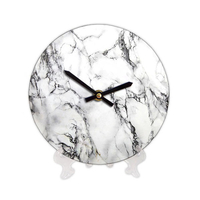 "Wooden clock ""White Marble"""