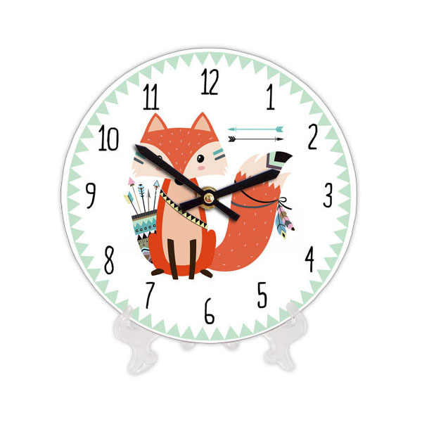 "Wooden clock ""Indian Fox"""
