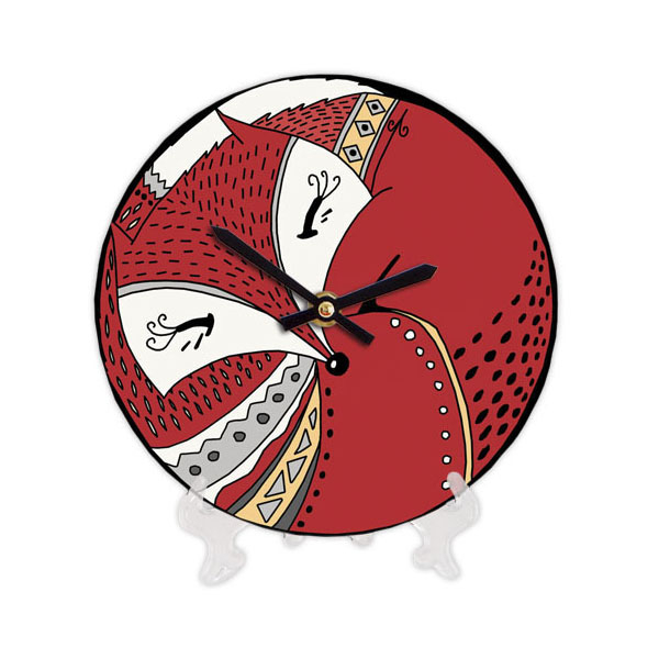 """Wooden clock """"Foxes"""""""