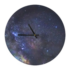 "Wooden clock ""Starry sky"""