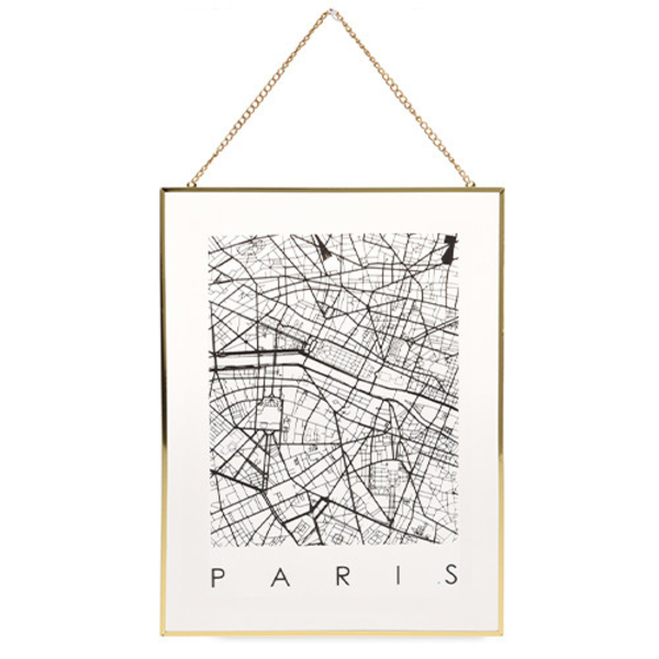 "Map on glass ""Paris"""