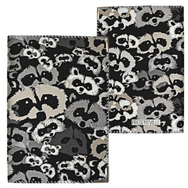 "Passport cover ""Raccoons"""