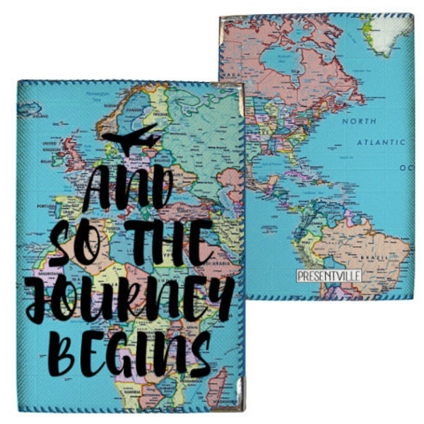 "Passport cover ""Journey begins"""