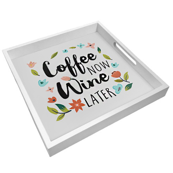 "Tray with handles ""Wine and coffee"""