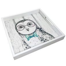 """Tray with handles """"Owl"""""""