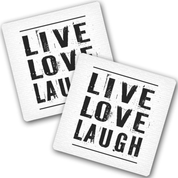 "Hot coasters ""Live Love Laugh"""