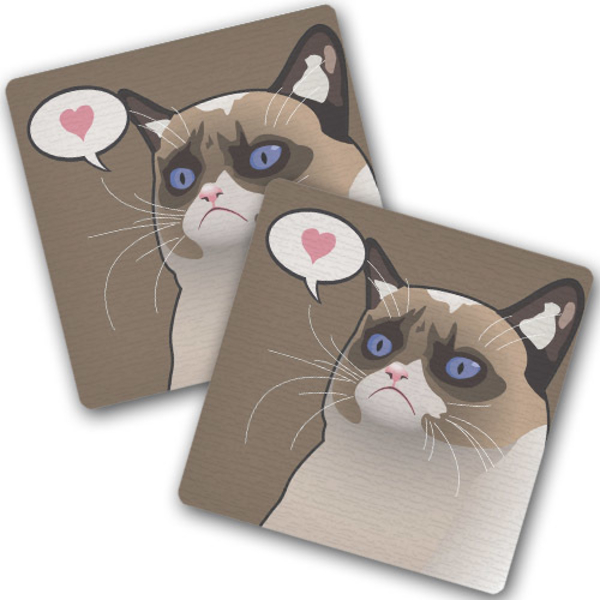 "Hot coasters ""Cat about love"""