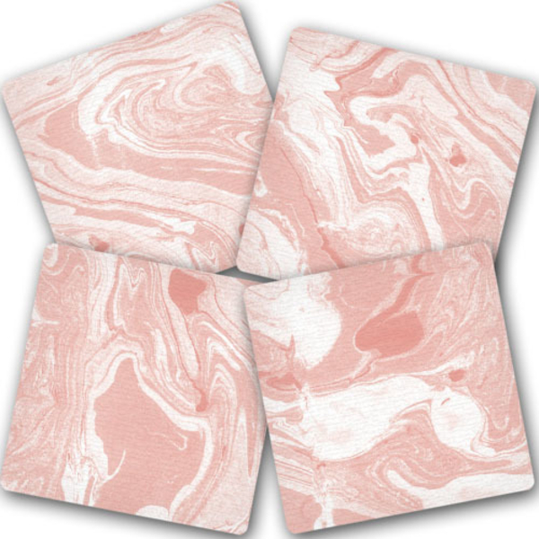 """Hot coaster """"Pink marble"""""""