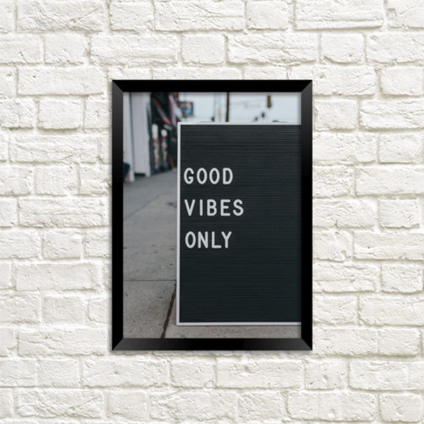 """Poster """"Good vibes only"""""""