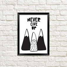 Poster - Never Give Up