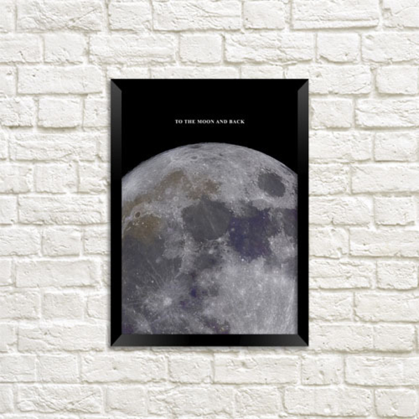 """Poster """"To the moon and back"""""""