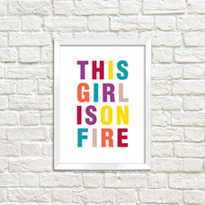 Poster - Girl On Fire