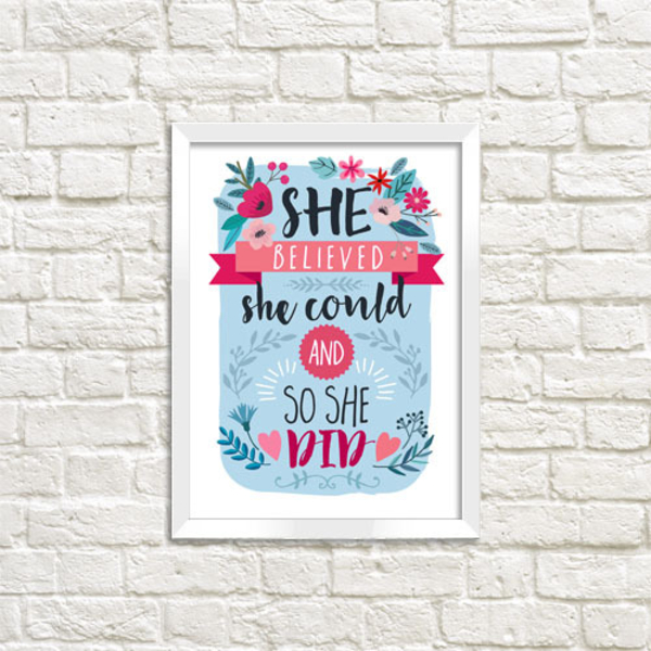 """Poster """"She believe"""""""