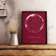 """Poster with your text """"Constellations"""", A3"""