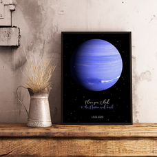 "Poster with your text ""Neptun"""