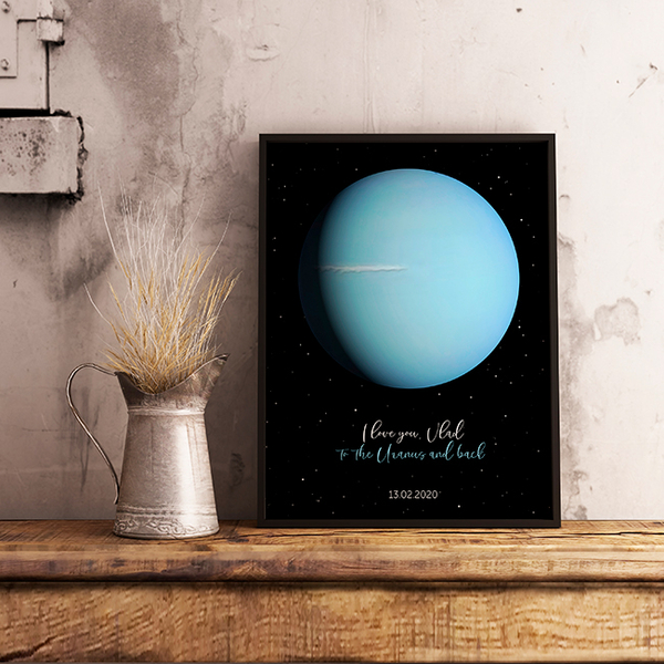 """Poster with your text """"Uranus"""""""