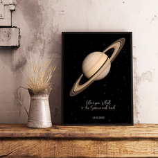 "Poster with your text ""Saturn"""