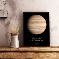 "Poster with your text ""Jupiter"""