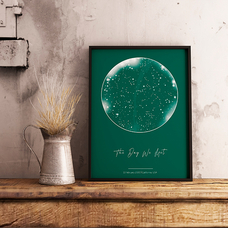 """Poster with your text """"Constellations"""", A5"""