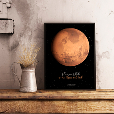 "Poster with your text ""Mars"""