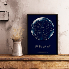 """Poster with your text """"Constellations"""", A4"""