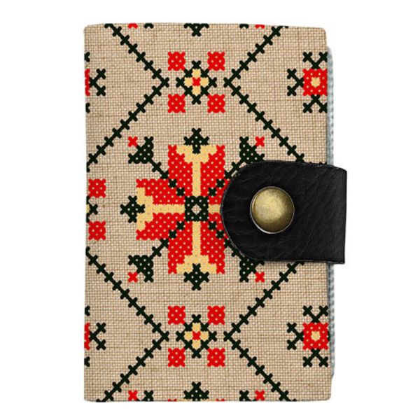 "Cardholder with push button  ""Ukrainian pattern"""