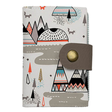"""Cardholder with push button  """"Boho"""""""